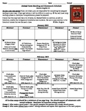 Animal Farm Reading and Homework Schedule