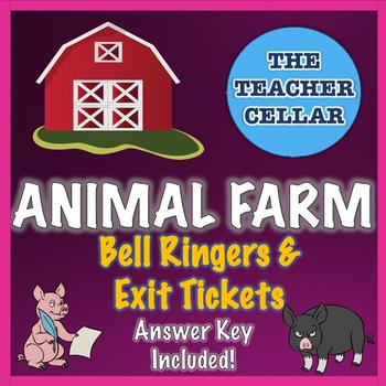 Animal Farm by George Orwell  - Chapter Quizzes / Exercises with Answer Key