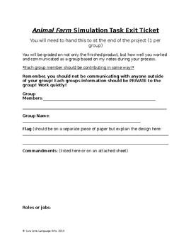 Animal Farm Rebellion Simulation Tast