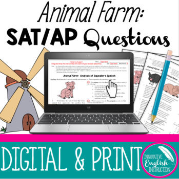 Animal Farm:  SAT or AP Questions