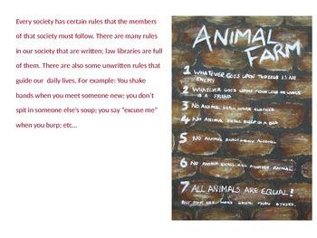 Animal Farm Seven Commandments Activity