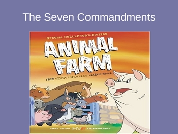 Animal Farm Seven Commandments Power Point and Graphic Organizer
