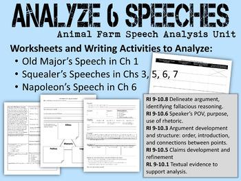 Animal Farm Speech Analysis Unit