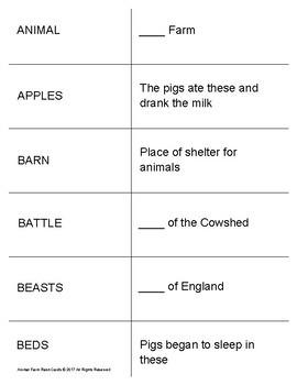 Animal Farm Study Flash Cards