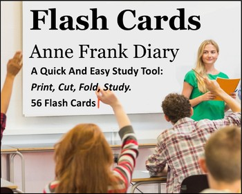 Anne Frank: Diary of a Young Girl Study Flash Cards