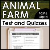 Animal Farm Test and Quiz Bundle