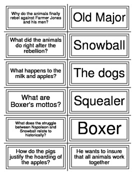 Animal Farm Test Review Flashcards
