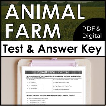 Animal Farm Test and Answer Key