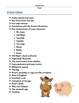 Animal Farm Test and Study Guide