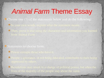 Animal Farm Theme Essay