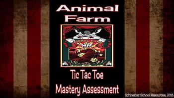 Animal Farm Tic Tac Toe Mastery Assessment