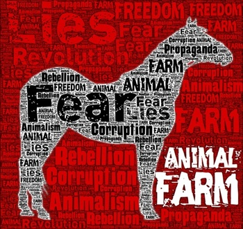 the different types of propaganda in animal farm a novel by george orwell In the book animal farm, napoleon is able to use propaganda effectively because he has the brains to do so and has the power to make the other animals to believe it.