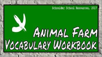 Animal Farm: Vocabulary Workbook Activity
