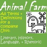 Animal Farm Whole Unit Terms + Definitions
