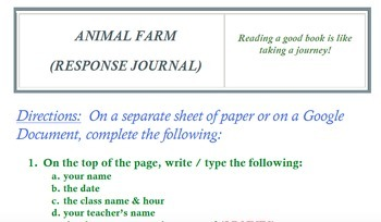 Animal Farm Worksheets (Bundle)