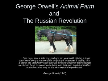 Animal Farm and Historical Parallels