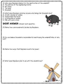 Animal Farm by George Orwell Chapter 6 Reading Comprehension Questions
