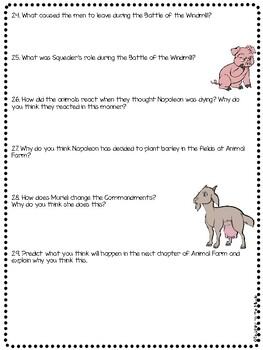 Animal Farm by George Orwell Chapter 8 Reading Comprehension Questions