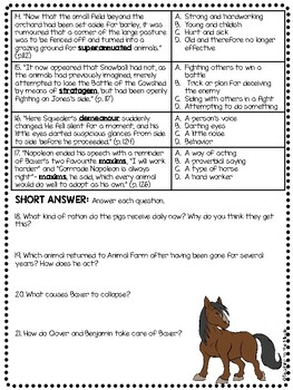 Animal Farm by George Orwell Chapter 9 Reading Comprehension Questions