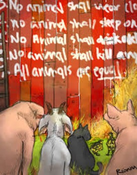 Animal Farm by George Orwell Chapters 1-5  Lesson Bundle