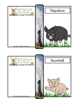Animal Farm by George Orwell Character Analysis Fold-Ems