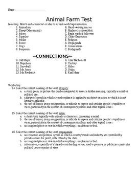Animal Farm by George Orwell Comprehensive Exam