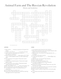 Animal Farm by George Orwell History and Symbolism Crossword Puzzle
