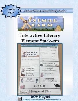 Animal Farm by George Orwell Interactive Literary Analysis Stack-Em
