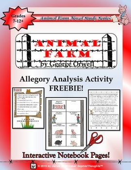 Animal Farm by George Orwell Interactive Notebook Activity Freebie
