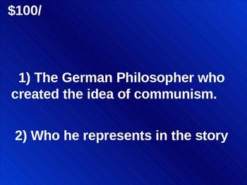 Animal Farm by George Orwell Jeopardy
