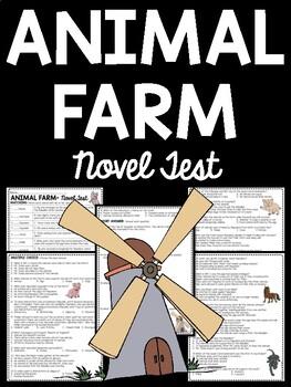 Animal Farm by George Orwell Novel Test