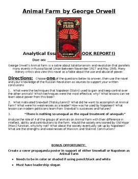 Animal Farm by George Orwell  Reading Assignments