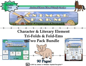 Animal Farm by George Orwell Tri-Folds and Fold-Ems Two Pack
