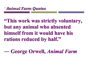 Animal Farm quotes posters