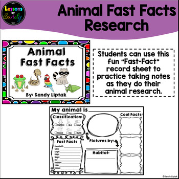 Animal Fast Facts