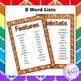 Animal Features & Habitats Vocabulary Pack- Word Lists, Flash Cards & Activities