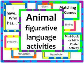 Animal Figurative Language-Idioms, Similes, Metaphors, & More!- BUNDLE
