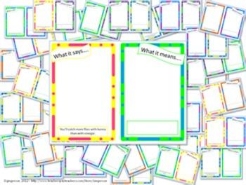 Animal Figurative Language-Idioms, Similes, Metaphors, & More!-Booklets/Posters