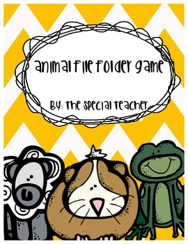 Animal File Folder Game