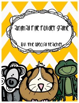 Animal File Folder Game