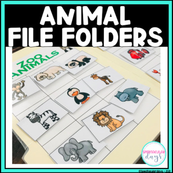 Animal File Folder Woksheet Pack