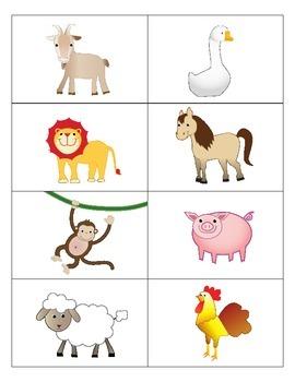 Animal Flash Cards - English