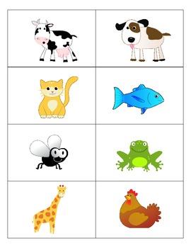 Animal Flash Cards - Spanish