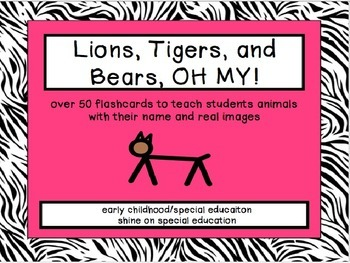 Animal Flashcards - Adapted Book/File Folder