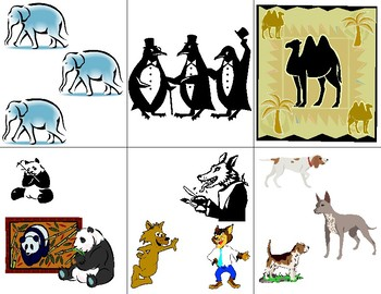 Animal Flashcards for counting