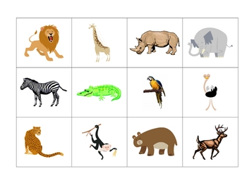 Animal Flashcards in Spanish