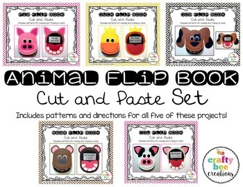 Animal Flip Book Cut and Paste Set