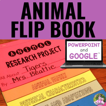 Digital Animal Flip Book Research Project for Google Classroom