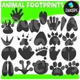 Animal Footprints Clip Art Bundle {Educlips Clipart}