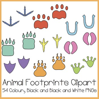 Animal Footprints Clipart